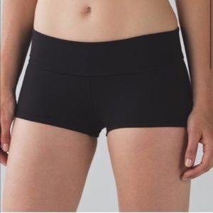 Lululemon Boogie Black Low-Rise Shorts